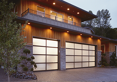 modern full view avante collection all glass garage door