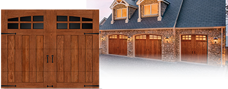 Canyon Ridge Moulded Wood Design Semi Custom Garage door Install Pricing