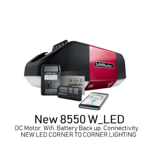 8550W-LED BELT DRIVE, BATTERY BACK-UP, CORNER TO CORNER LED LIGHTING, SMART WALL CONTROL, WIFI ENABLED.