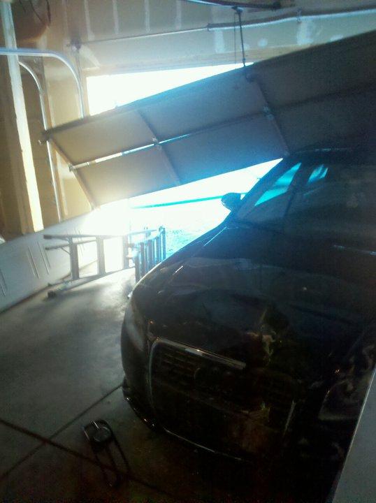 Car Hit The Garage Door One Clear Choice Garage Doors