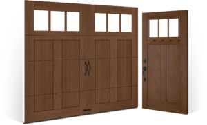 Carriage House Style Canyon Ridge With Complimenting Entry Door Installation Clopay Entry Doors
