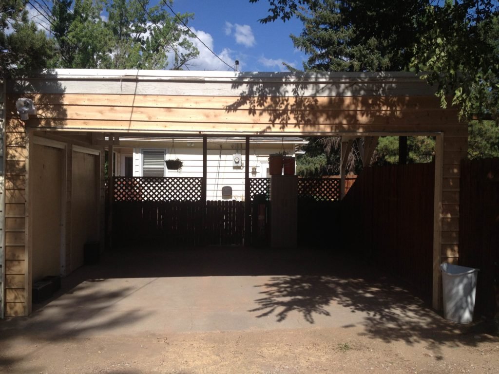 Carport Frame In Completed By One Clear Choice. Now Just Add The Garage Door And Your Home Is Safer