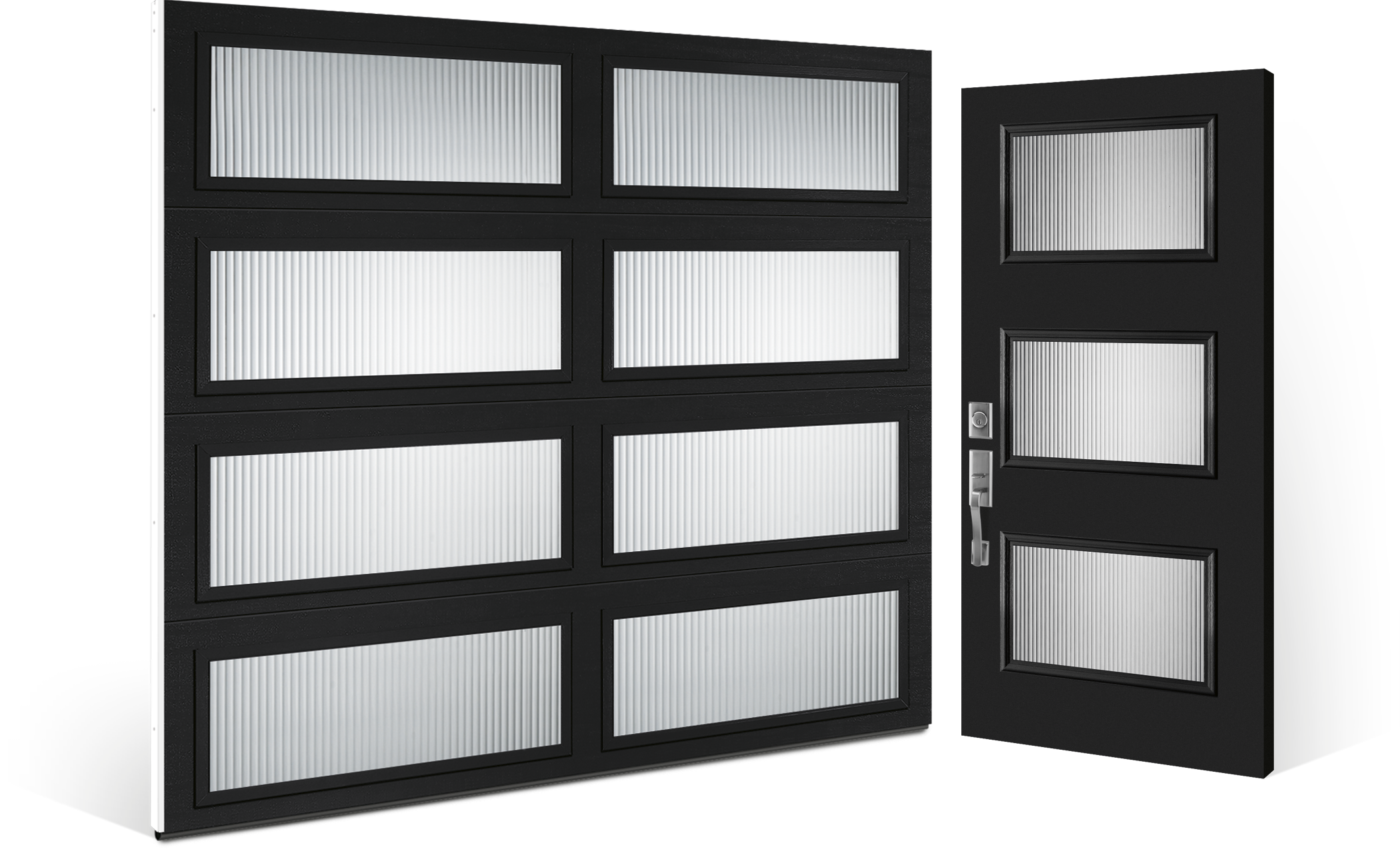 Modern Steel Garage Door Installed Pricing One Clear Choice Garage Doors Atlanta
