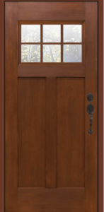 Fiberglass entry door Clopay Craftsman