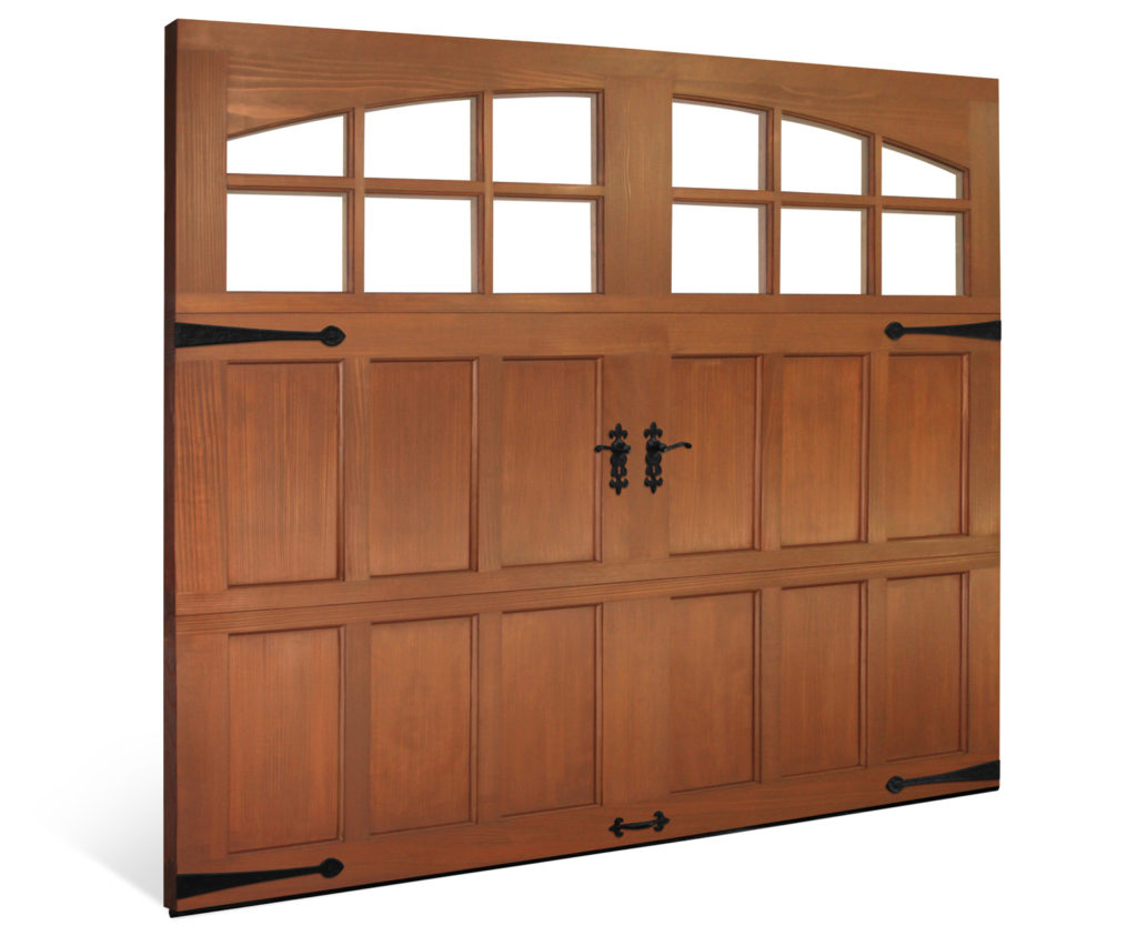 clopay hand crafted Wood garage doors