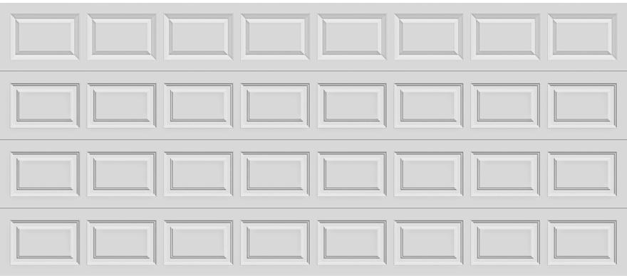 16X7 STANDARD PANEL GARAGE DOOR