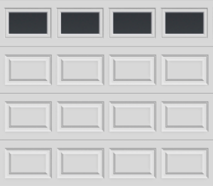 CLASSIC PANEL GARAGE DOOR PLAIN WINDOWS