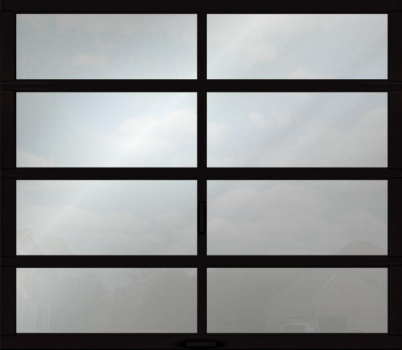Full View Garage Door Anodized Aluminum Panel