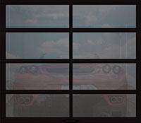 Full View Garage Door Gray Acrylic