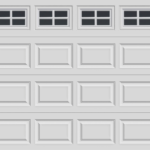 GARAGE DOOR WITH INSERTS