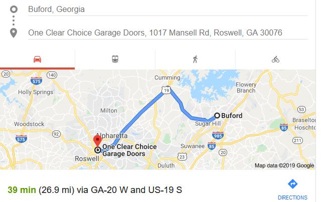garage door company near buford
