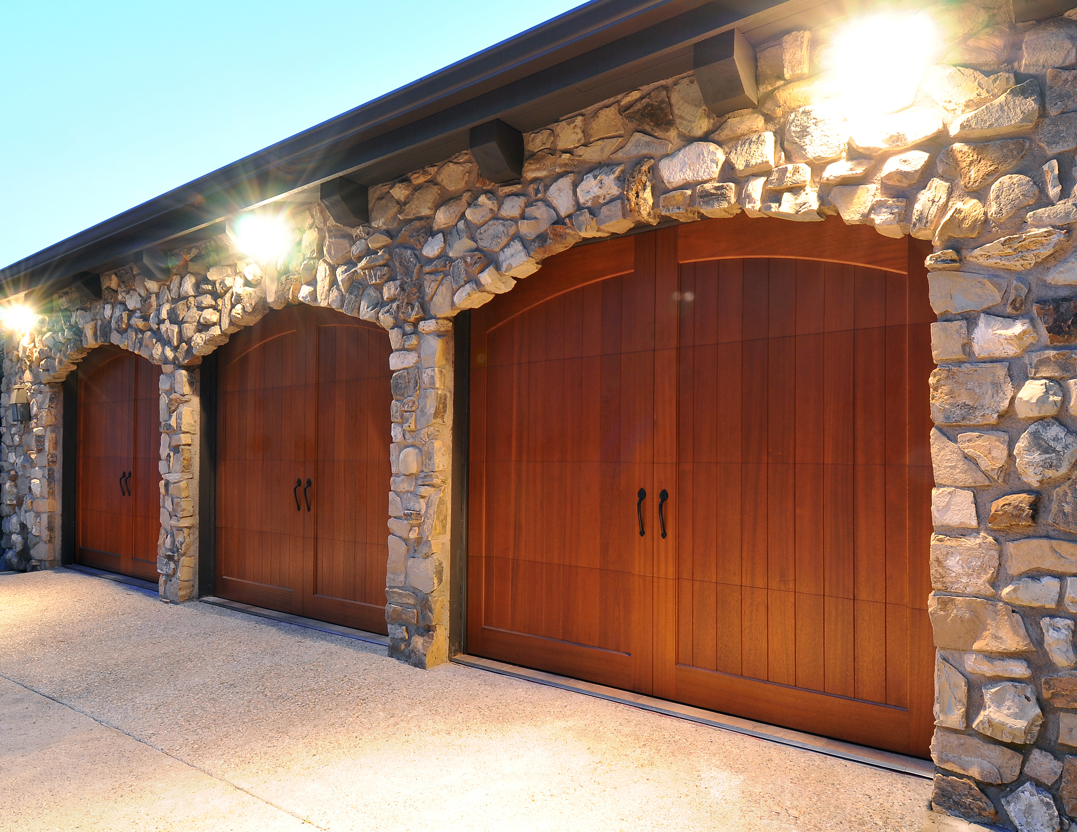 Custom Wood Hand Crafted Garage Doors One Clear Choice