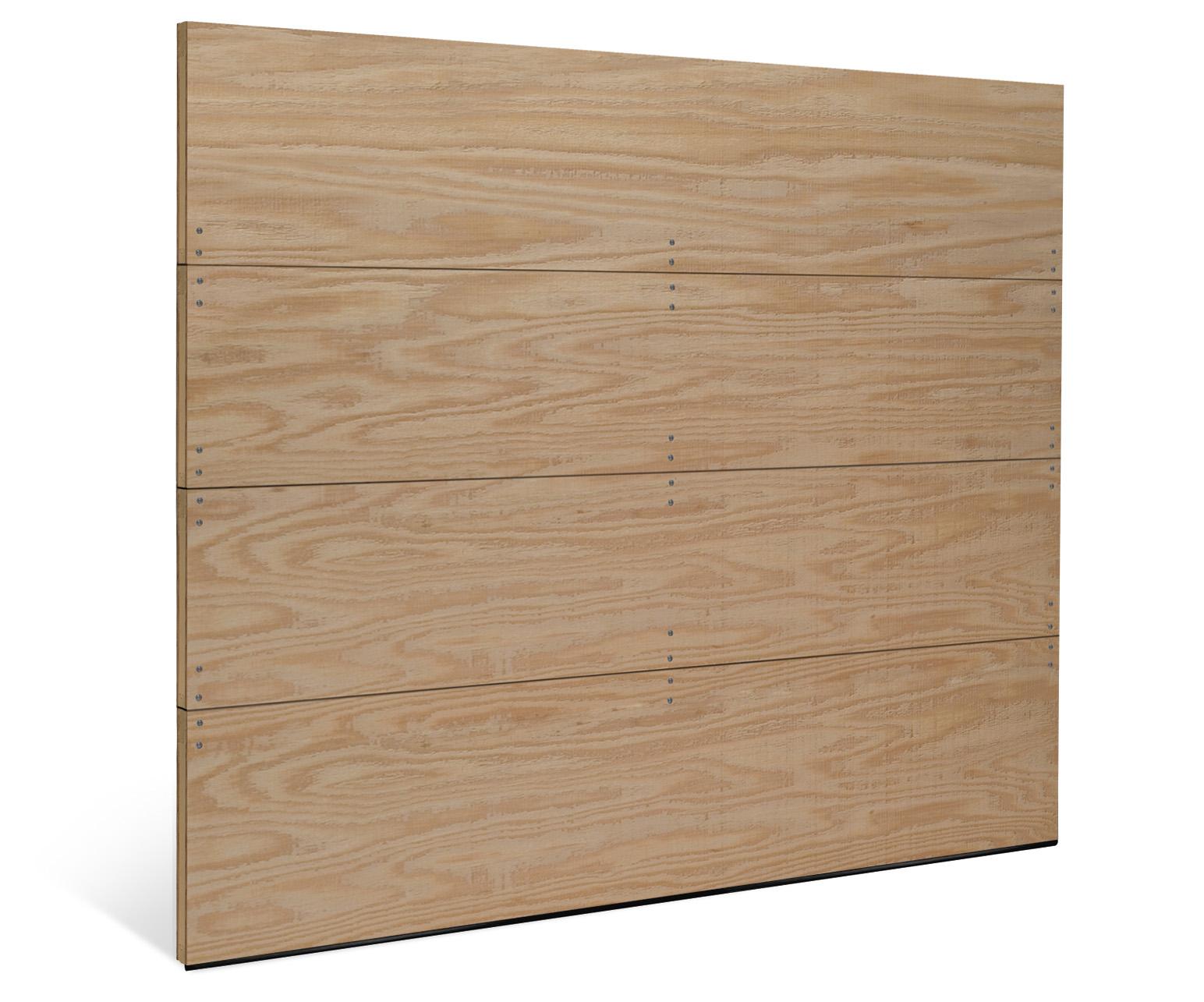 Flush Panel Wood Garage Door One Clear Choice Garage