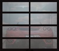 full view garage door gray tinted glass