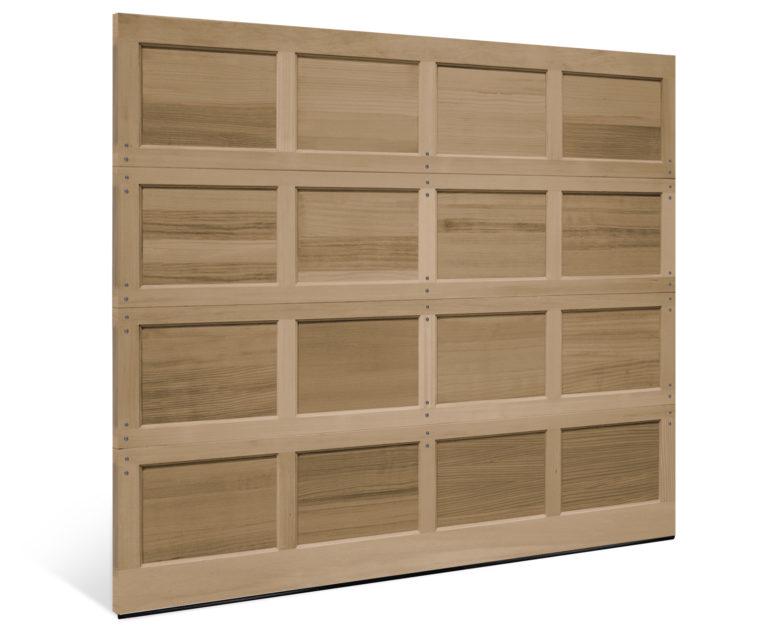 classic wood recessed panel garage door