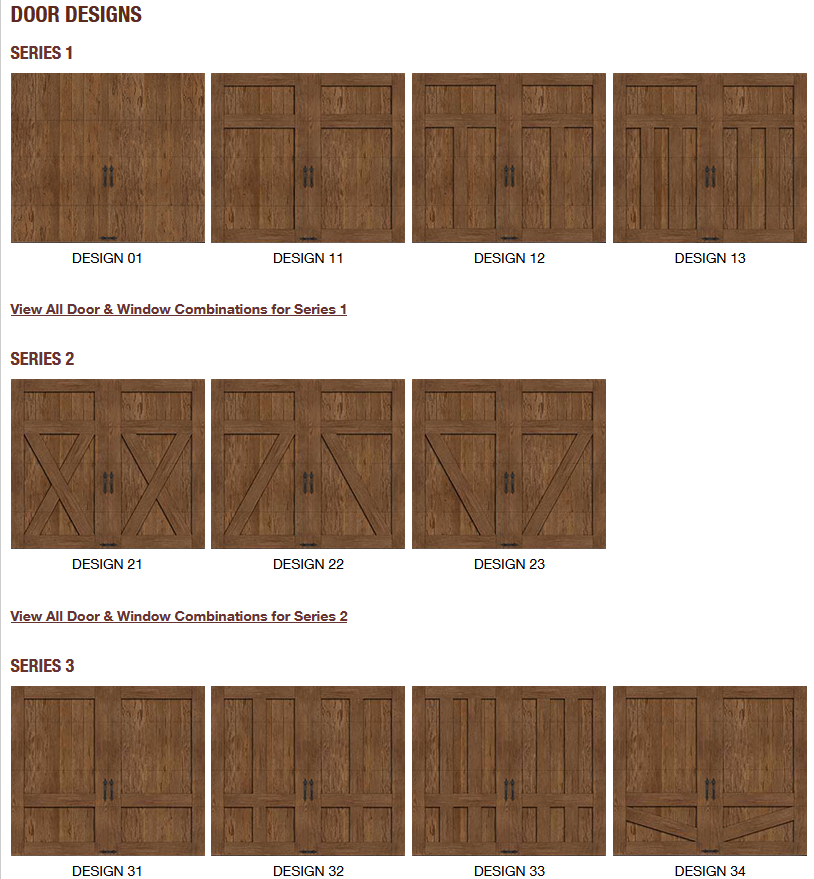 CANYON RIDGE LIMITED EDITION GARAGE DOOR DESIGNS