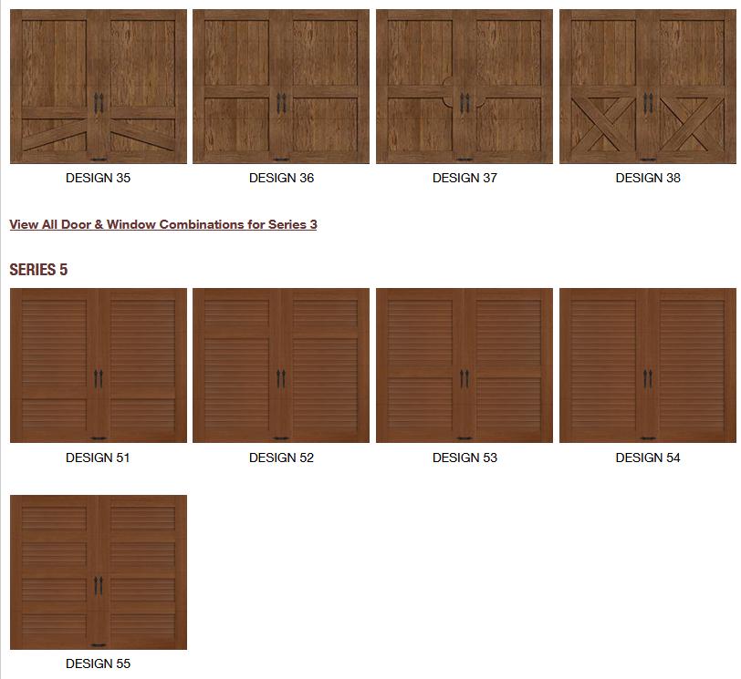 CANYON RIDGE LIMITED EDITION GARAGE DOOR DESIGNS2
