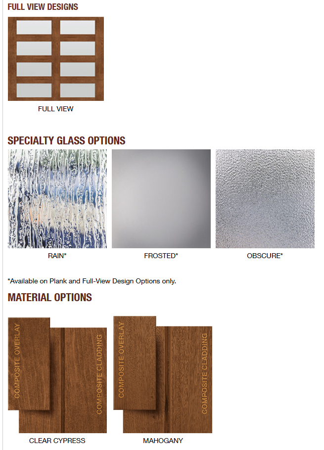 CANYON RIDGE MODERN COLLECTION FULL VIEW SPECIALTY GLASS AND MATERIALS