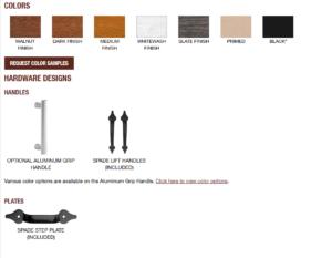 Canyon Ridge Mondern Garage Door Design Options3 One