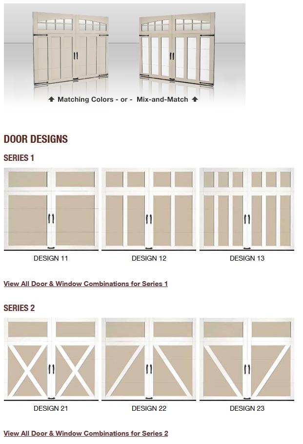 COACHMAN CARRIAGE HOUSE DESIGN GARAGE DOORS