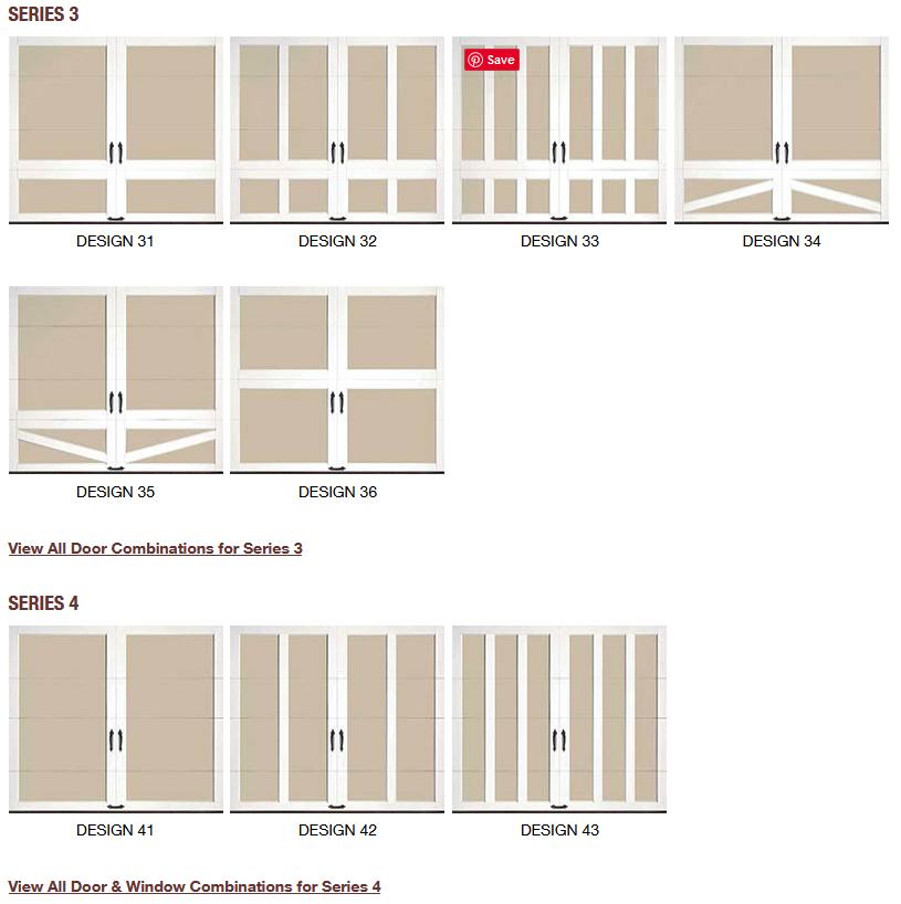COACHMAN CARRIAGE HOUSE DESIGN GARAGE DOORS2