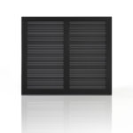clopay canyon ridge black louvered garage door