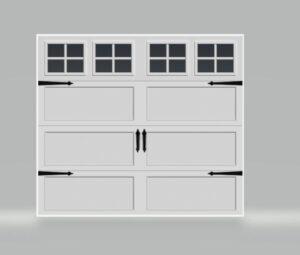 BRIDGEPORTE LONG PANEL WHITE GARAGE DOOR WITH HARDWARE ONE CLEAR CHOICE GARAGE DOOR PRICING