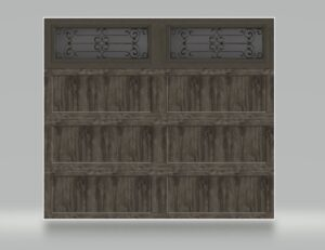 BRIDGEPORTE SLATE LONG PANEL GARAGE DOOR WITH WINDOWS GARAGE DOOR ONE CLEAR CHOICE GARAGE DOOR PRICING