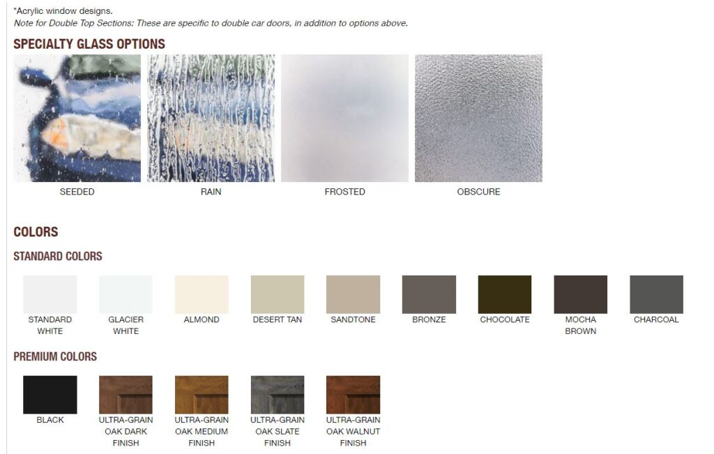 bridgeport recessed panel colors and glass options